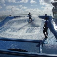 on the Surfing machine
