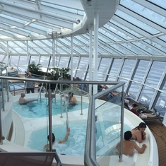 The Solarium with its whirlpools.