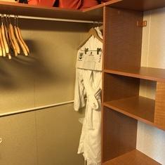Large walkin closet.