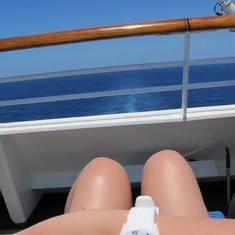 Sun, sea & a cold drink!