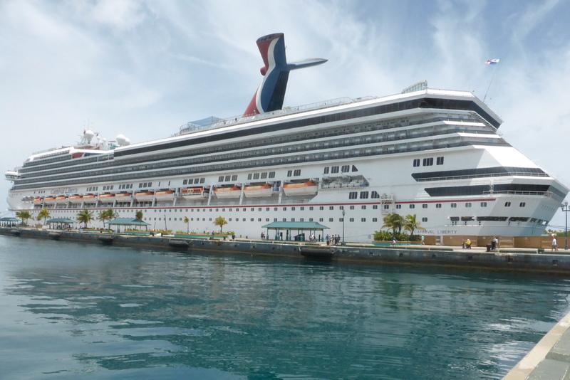 Carnival Ship in Port of Nassau - Carnival Liberty