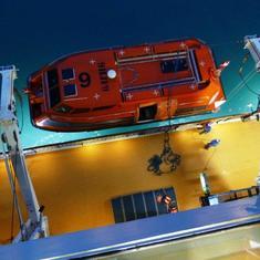 Raising the Tender Boat