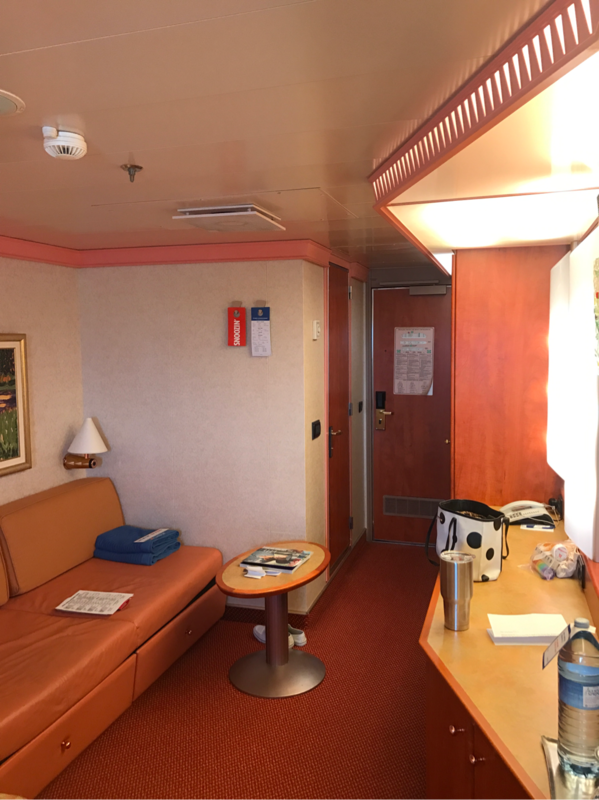 Balcony Cabin 7343 On Carnival Splendor, Category 8C