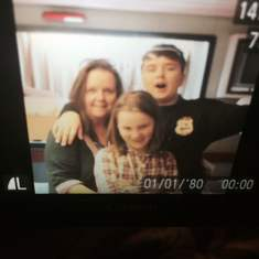 Nana and her grandchildren Bailey & Autumn