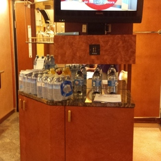 Ocean suite Bar & mini Fridge in cabinet