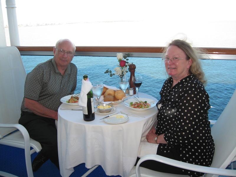 Dinner on balcony C-518 Antarctica cruise  - Star Princess