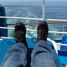 Tired feet from walking in Alaska