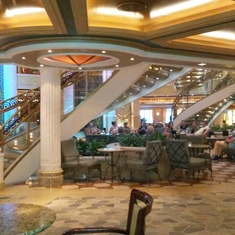 Ruby Princess atrium