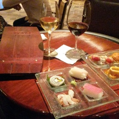 Wine and tapas at Vines aboard Ruby Princess
