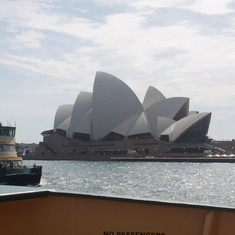 view from ferry of Opera House