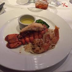 Miami, Florida - Lobster and shrimp dinner