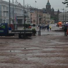 Helsinki, Finland - Wet in Helsinki