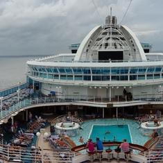 Top deck of Emerald Princess