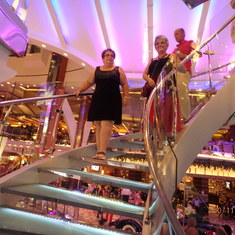 Inside Oasis of the Seas - Staircase
