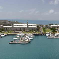 King's Wharf, Bermuda - Royal Naval Dockyard as seen from King's Wharf