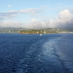 Leaving St. Lucia