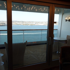 View from Dining Room across Balcony on Pinnacle Suite, 7001