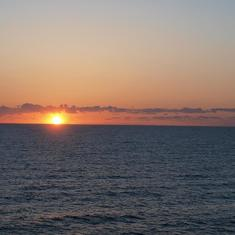 Sunrise from our stateroom
