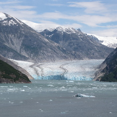 Cruise Tracy Arm Fjord, Alaska - Dawes Glacier, great view.