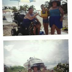 Castaway Cay (Disney Private Island) - Sharon,Courtney and I