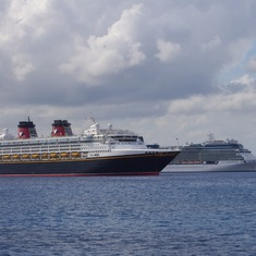 Disney Magic and Celebrity Solstice in Grand Cayman