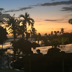 Papeete, Tahiti - sunset in Papeete