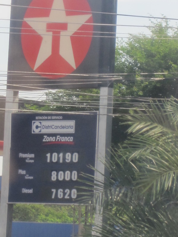 Cartagena, Colombia - Gas prices in Cartagena