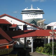 Over looking the port, Antigua