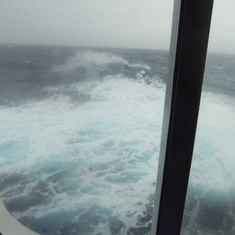 Rough seas on cruise