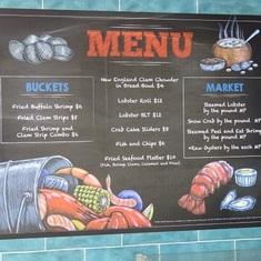 Lobster Shack Menu