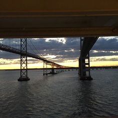 Under Chesapeake Bay Bridge