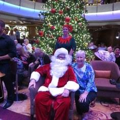 Mary with Santa