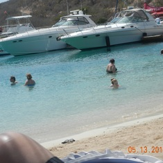 Tortola, British Virgin Islands - Nice beach, not my boats