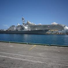 Nassau, Bahamas - USS Lassen an Allure in Nassau