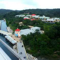 Mahogany Bay view of pier