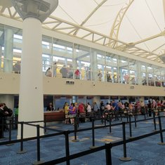Miami Cruise Terminal- lines to check in, lines to board