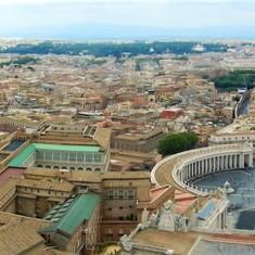 Vatican Panorama Skyline, Rome