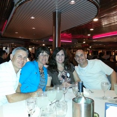 Our friends and us at dinner!