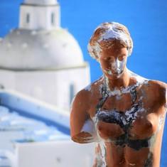 Santorini Statue