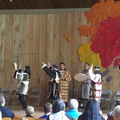 Dancers at the Alaska Native Heritage Center