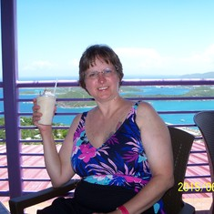Charlotte Amalie, St. Thomas - Bushwacker drink at Paradise Point.