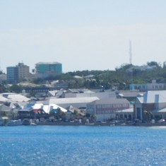 The port area in Nassau