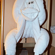 Obligatory towel monkey