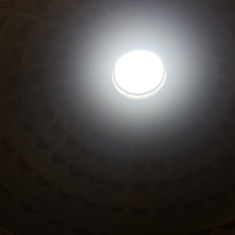 Occulus inside the Pantheon--Rome, Italy