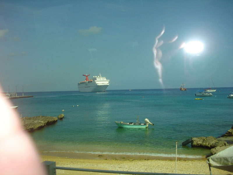 George Town, Grand Cayman - Our ship from Grand Cayman