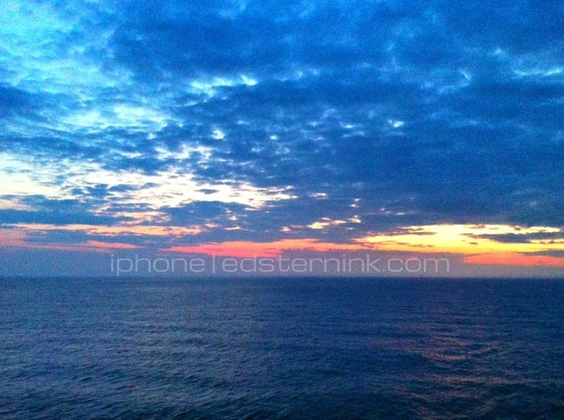 Sunset; View from Cabin - Carnival Splendor