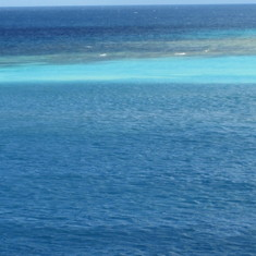 Beautiful blue Caribbean waters in Aruba