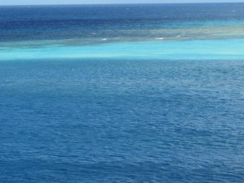 Oranjestad, Aruba - Beautiful blue Caribbean waters in Aruba