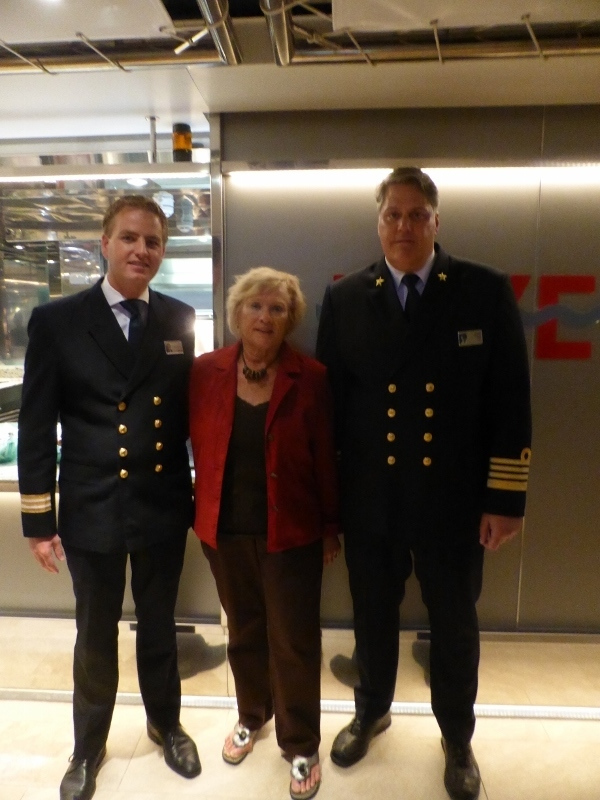 Capt. Darin & Hotel Manager with me.   - Koningsdam