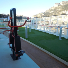 Outside Excercise area and putting greens on Viking Star Upper Deck